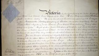 Document signed by Queen Victoria