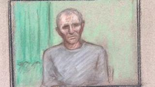 Court drawing of Barry Bennell