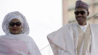 Nigerian President Mohammadu Buhari arriving with his wife Aisha, pictured in 2015