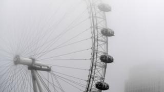 Freezing fog hit London on Friday