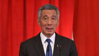 Singapore's Prime Minister Lee Hsien Loong speaks at a joint press conference with Indonesia's President Joko Widodo (not pictured) after witnessing a signing ceremony for a memorandum of understanding agreement between both countries at the Istana presidential palace in Singapore on 28 July 2015.