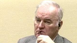 Ratko Mladic in court in The Hague, 5 Dec 16