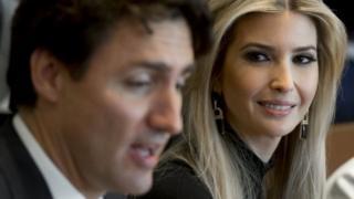 Ivanka Trump hadir dalam berbagai pertemuan dengan pempimpin dunia, antara lain PM Kanada Justin Trudeau.