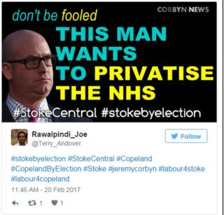 An image of Paul Nuttall, one of the images that's circulating among a network of co-ordinated anti-UKIP Twitter accounts