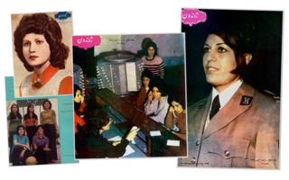 Pages from Afghan magazine Zhvandun - images of Afghan women in the mid-1970s