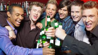 Young men drinking