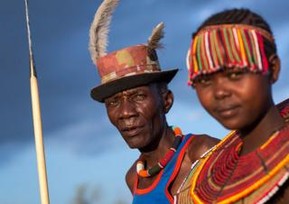 Kenya'da Baringolu iki kabile üyesi