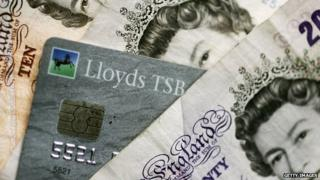 Lloyds TSB card + cash