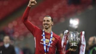 Umukinyi w'imbere wa Manchester United Zlatan Ibrahimovic