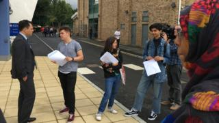 Grenfell students pick up results
