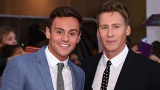 Tom Daley and partner Dustin Lance Black