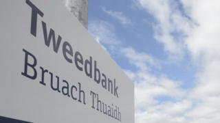 Tweedbank sign