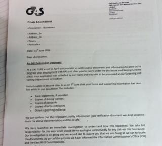 Copy of letter sent to employees