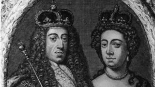 King William of Orange with Mary II