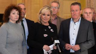 Michelle O'Neill and her Sinn Féin colleagues