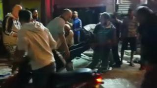 Footage from the scene of the blasts