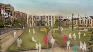 Artist impression of Games Village at 2022 Commonwealth Games in Birmingham
