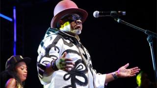 Papa Wemba during his final concert before his death
