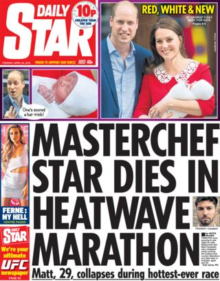 Daily Star front page - 24/04/18