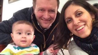 Nazanin Zaghari-Ratcliffe with her husband Richard and daughter Gabriella