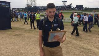 University student Alex Hedley at The Open