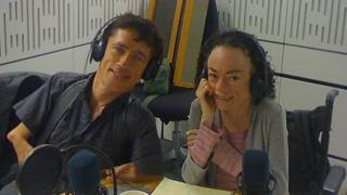 Mat Fraser and Liz Carr in the studio