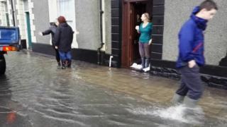 Llanrwst flooding in December