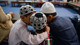 Muslim school children