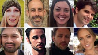 左上から時計回りに、クリシー・アーチボルドさん、セバスティアン・ベランジェさん、カースティー・ボーデンさん、イグナシオ・エシェベリアさん、サラ・ゼレナクさん、グザビエ・トマスさん、アレクサンドル・ピジェアールさん、ジェイムズ・マクムランさん