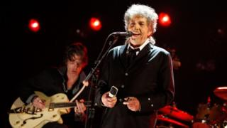 Bob Dylan onstage during the 17th Annual Critics' Choice Movie Awards at the Hollywood Palladium in January 2012 in Los Angeles, California