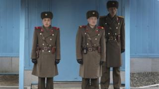 板門店の北朝鮮兵(資料写真)