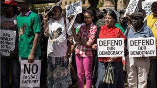 Protest in Pretoria against President Zuma and his cabinet reshuffle 03/04/2017