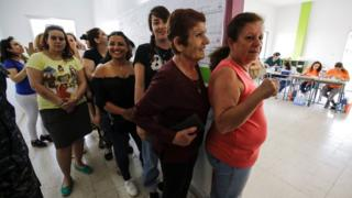 Women vote in Batroun, north of Beirut