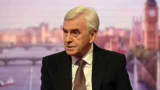 Shadow chancellor, John McDonnell