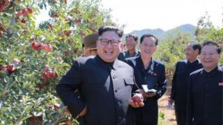 "President Trump talk say North Korea leader- Kim Jong-un na ""rocket man."""