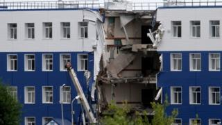 Destroyed training facility for Russian paratroopers in near Omsk, 13 July