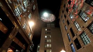 'The Reflektor' by Studio Roso on display in Carlton Street