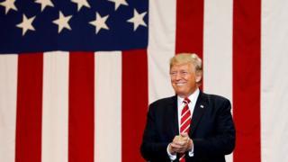 Donald Trump at a rally in Phoenix, Arizona