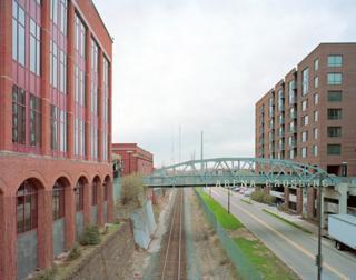 La línea principal en las afueras de Columbus, Ohio
