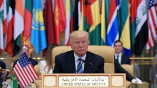 Президент США Дональд Трамп на саммите в Рияде