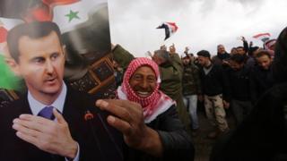 Сторонники Асада