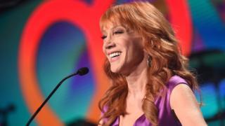 Comedian Kathy Griffin speaks during the 24th Annual Race To Erase MS Gala at The Beverly Hilton Hotel on May 5, 2017 in Beverly Hills, California