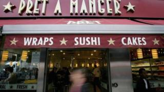 exterior of Pret A Manger shop