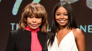 Tina Turner and Adrienne Warren