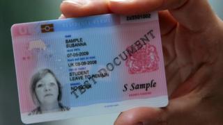 A sample identity card