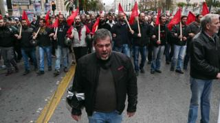 Strikers in Athens