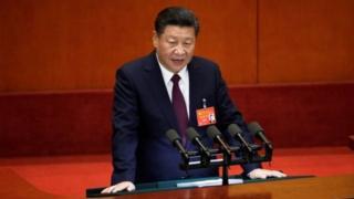 ผู้นำจีนเริ่มกล่าวปราศรัยต่อที่ประชุม โดยระบุถึงผลงานความสำเร็จต่าง ๆ ในสมัยที่ผ่านมา