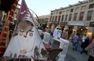 أحد الشوارع في قطر