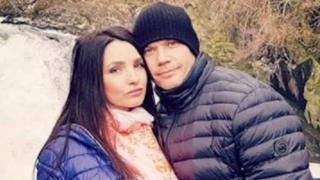 Maryna Kavaliauske with husband Giedrius
