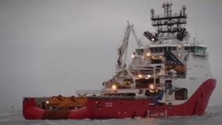 Trench dredging ship Siem Ruby